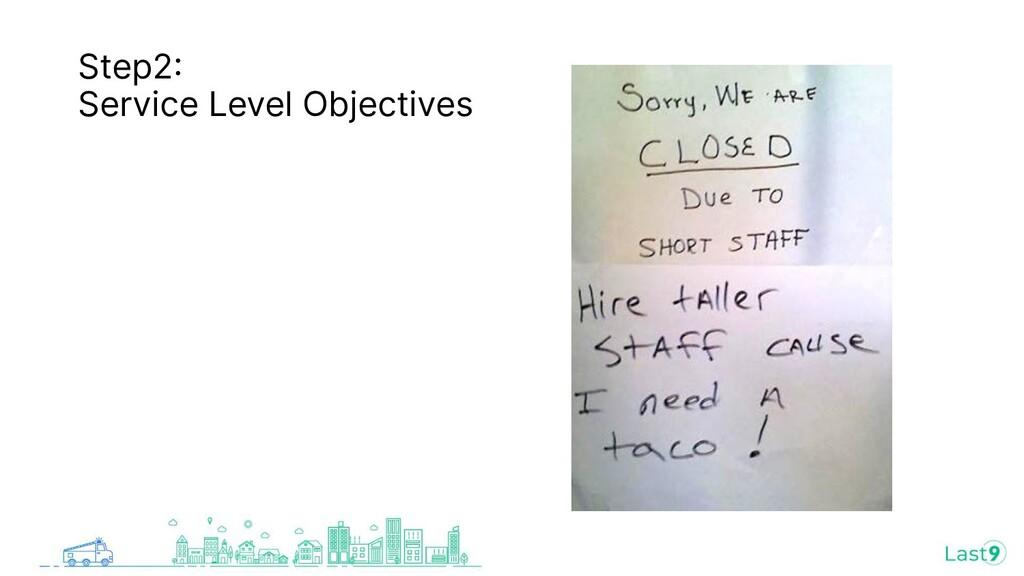 Step2 Service Level Objectives