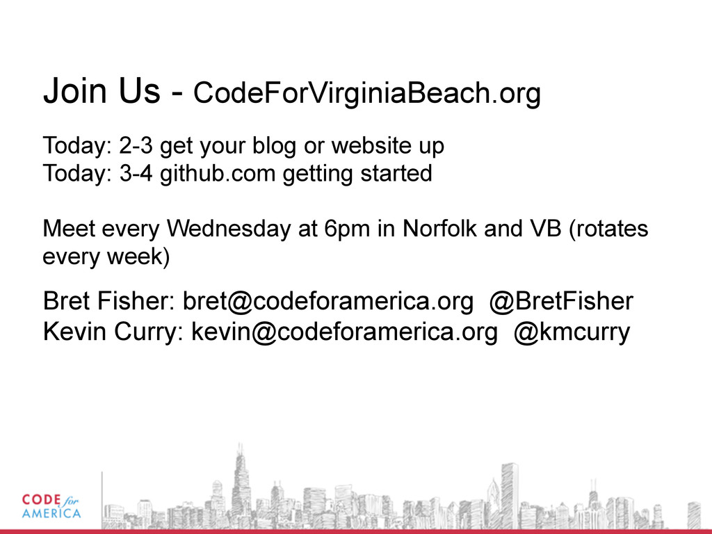 Join Us - CodeForVirginiaBeach.org Today: 2-3 g...