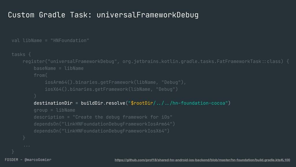 FOSDEM - @marcoGomier Custom Gradle Task: unive...