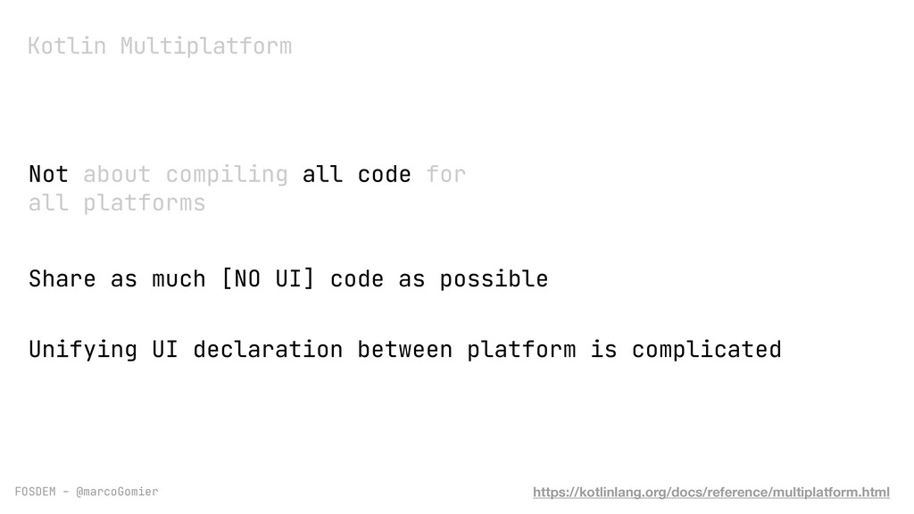 FOSDEM - @marcoGomier Not about compiling all c...