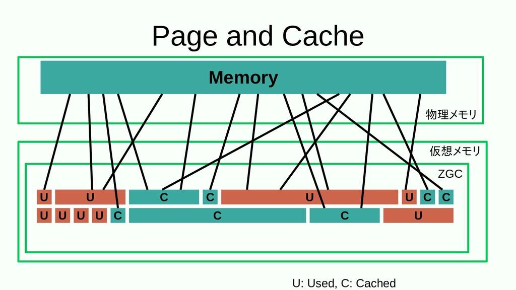 Page and Cache Memory 物理をするメモリ 仮想メモリメモリ ZGC U: ...