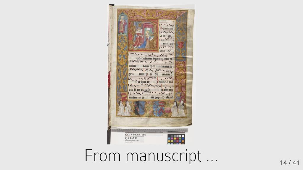 14 / 41 From manuscript ... From manuscript ...