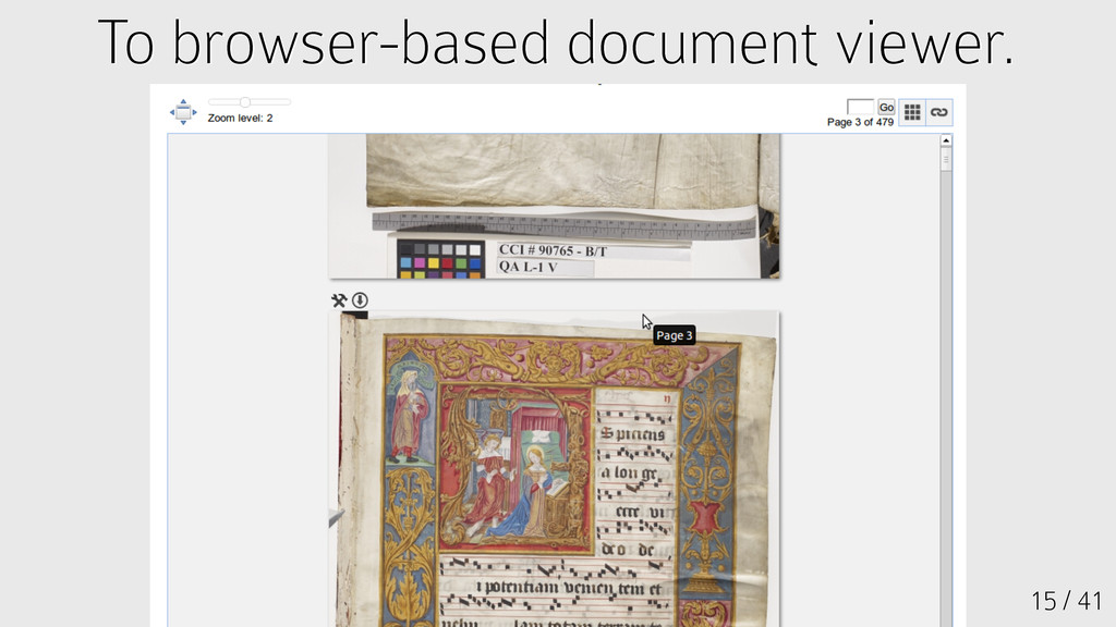 15 / 41 To browser-based document viewer. To br...
