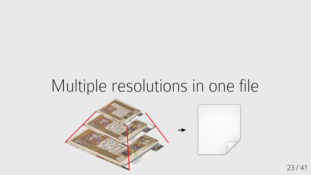 23 / 41 Multiple resolutions in one file Multip...