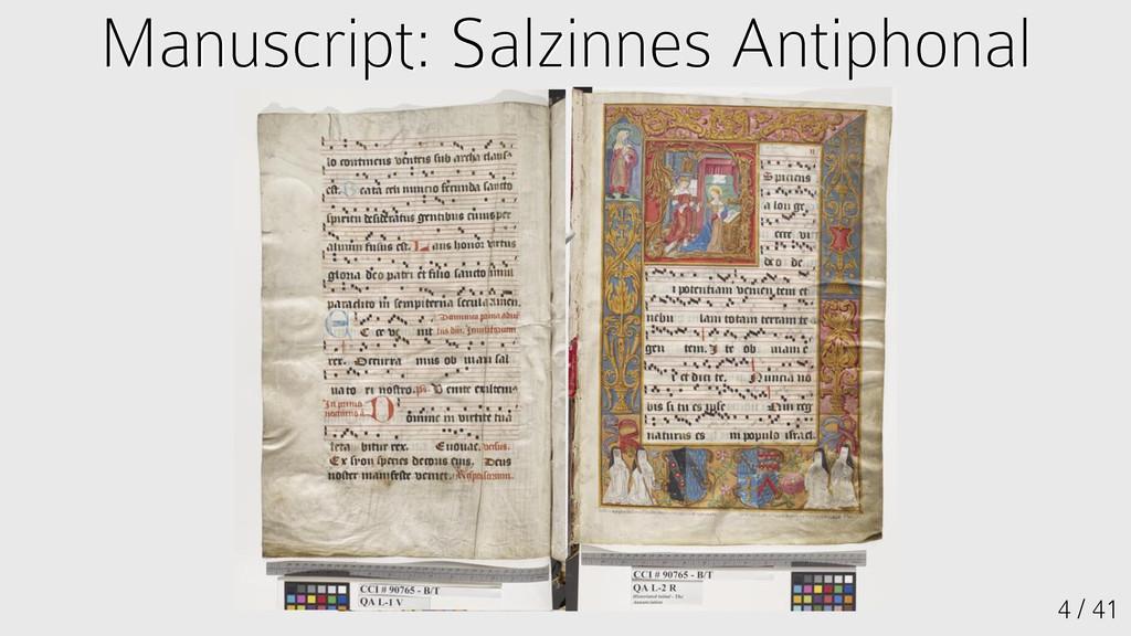 Manuscript: Salzinnes Antiphonal Manuscript: Sa...
