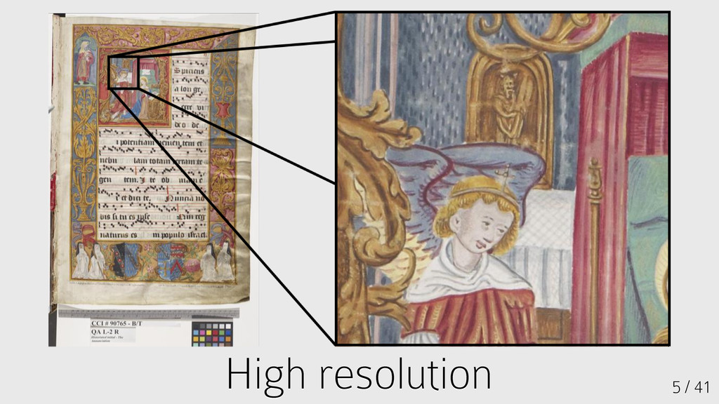 High resolution High resolution 5 / 41