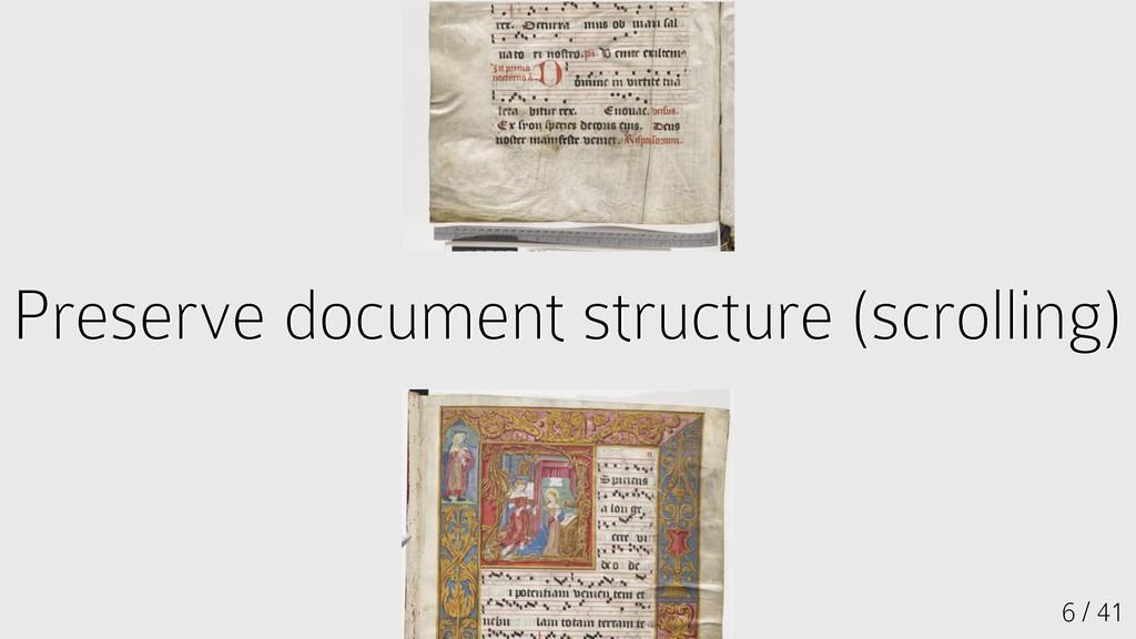 Preserve document structure (scrolling) Preserv...