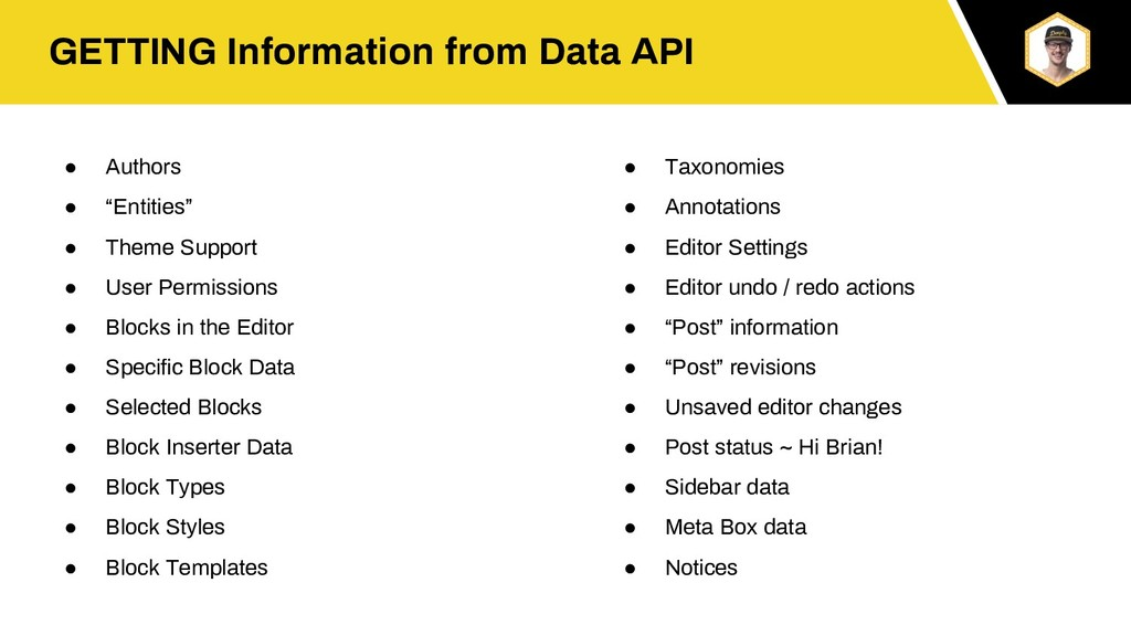 """GETTING Information from Data API ● Authors ● """"..."""