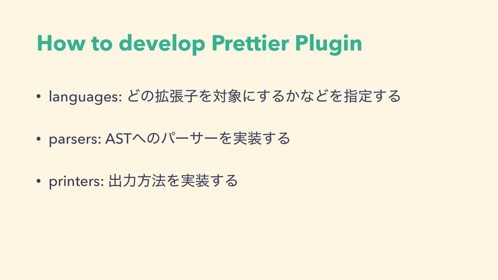 How to develop Prettier Plugin • languages: Ͳͷ֦...