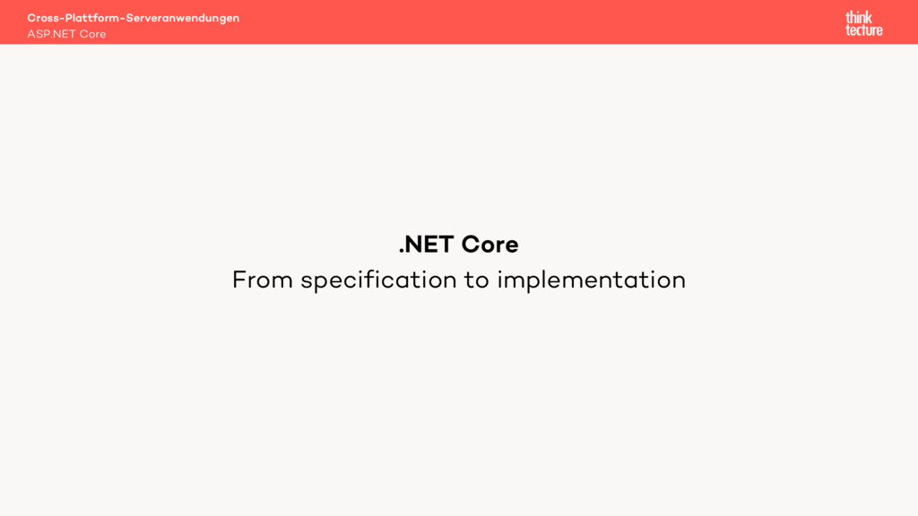 From specification to implementation Cross-Plat...
