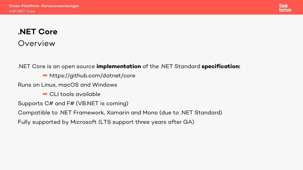 Overview .NET Core is an open source implementa...