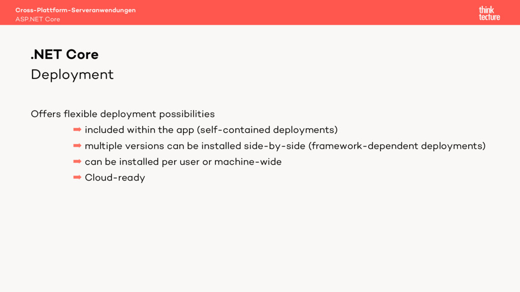 Deployment Offers flexible deployment possibili...