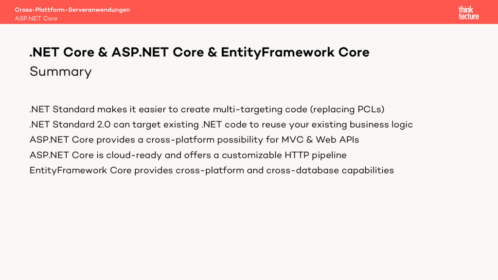 Summary .NET Standard makes it easier to create...