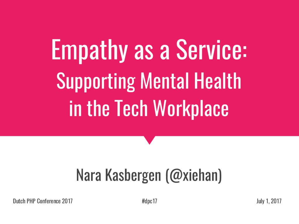Empathy as a Service: Supporting Mental Health ...