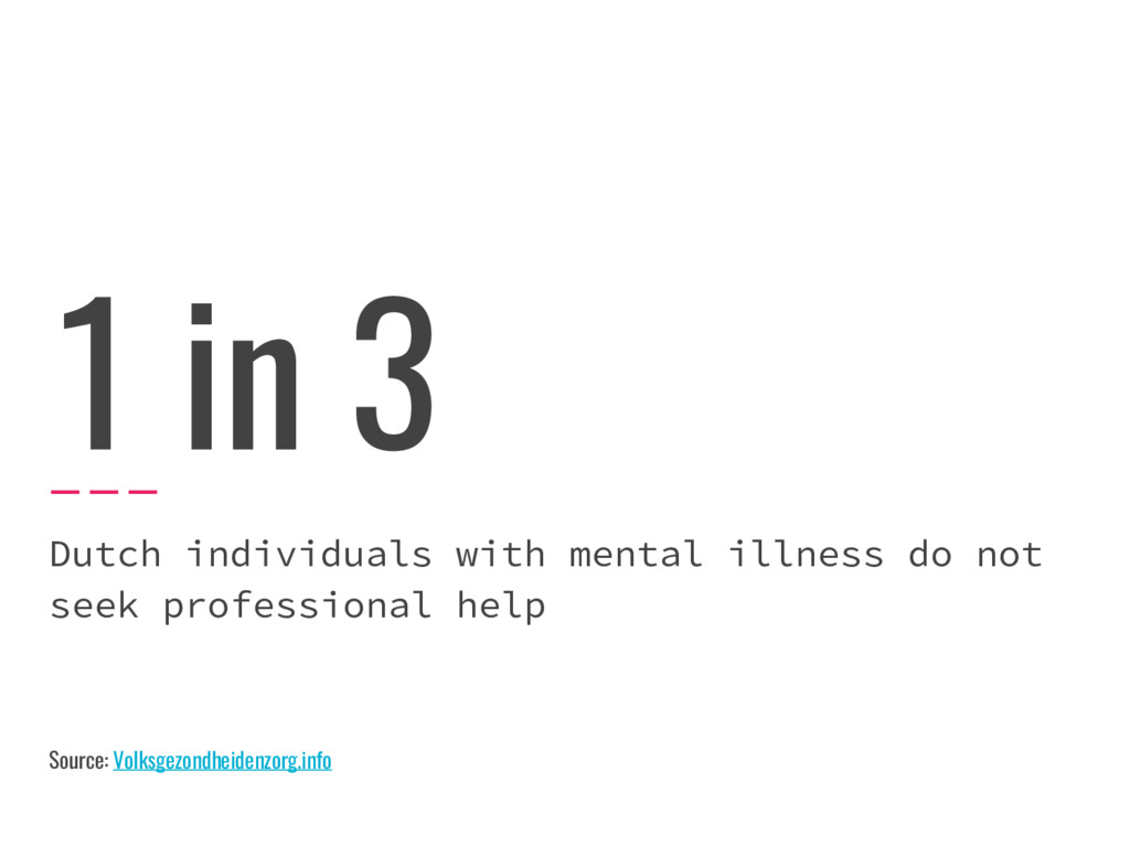 1 in 3 Dutch individuals with mental illness do...