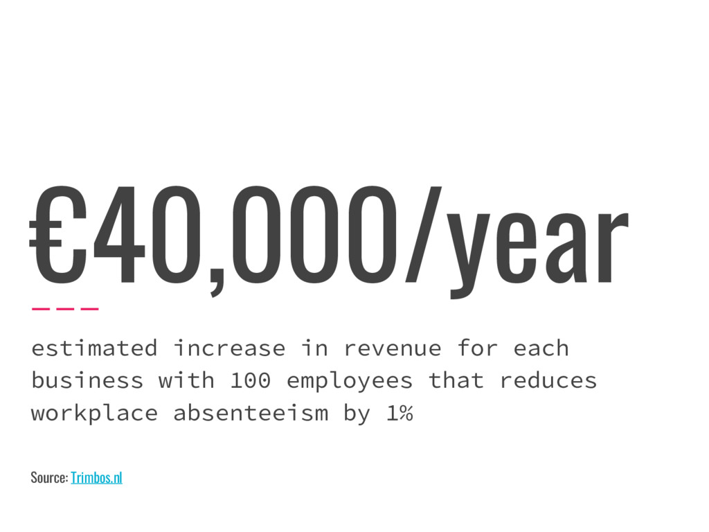 €40,000/year estimated increase in revenue for ...