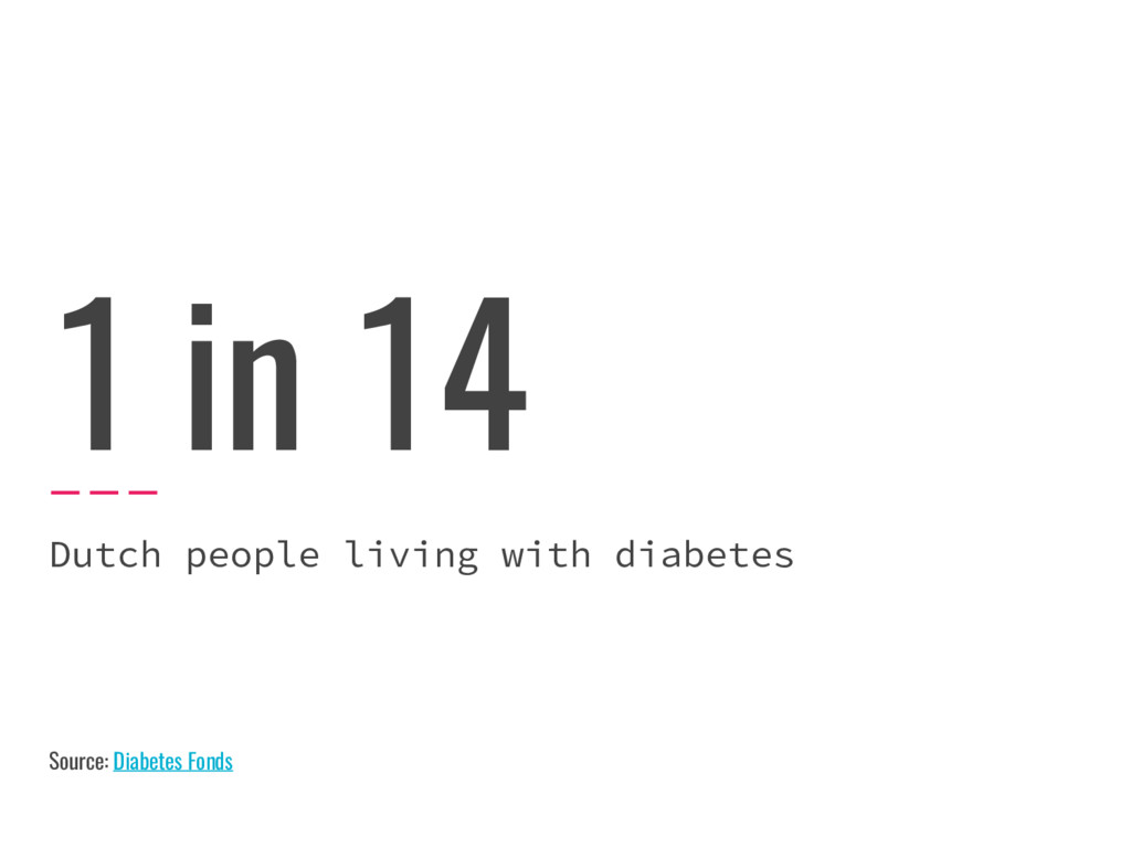 1 in 14 Dutch people living with diabetes Sourc...
