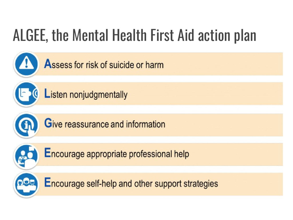 ALGEE, the Mental Health First Aid action plan