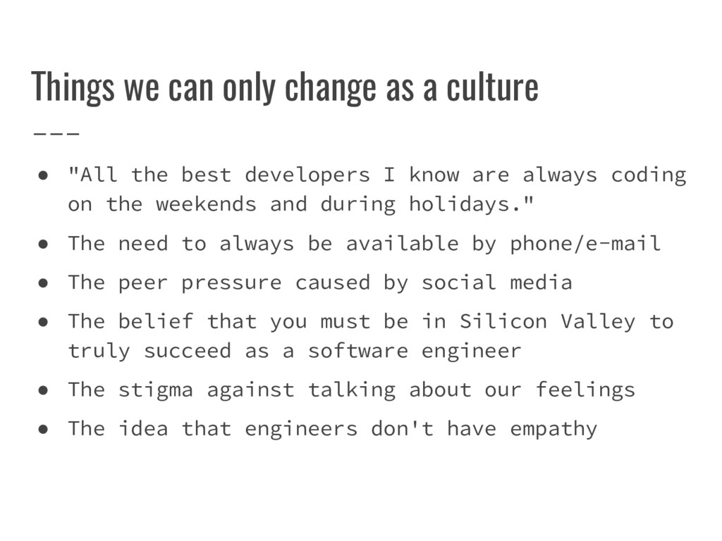 """Things we can only change as a culture ● """"All t..."""
