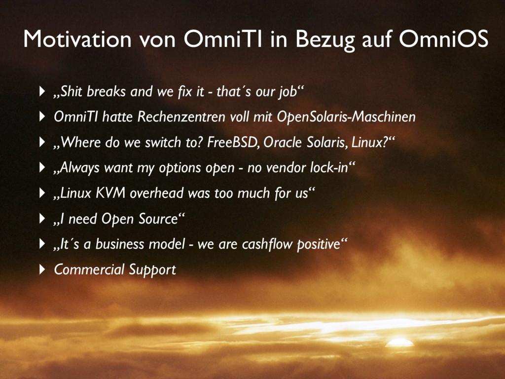 """Motivation von OmniTI in Bezug auf OmniOS ‣ """"Sh..."""