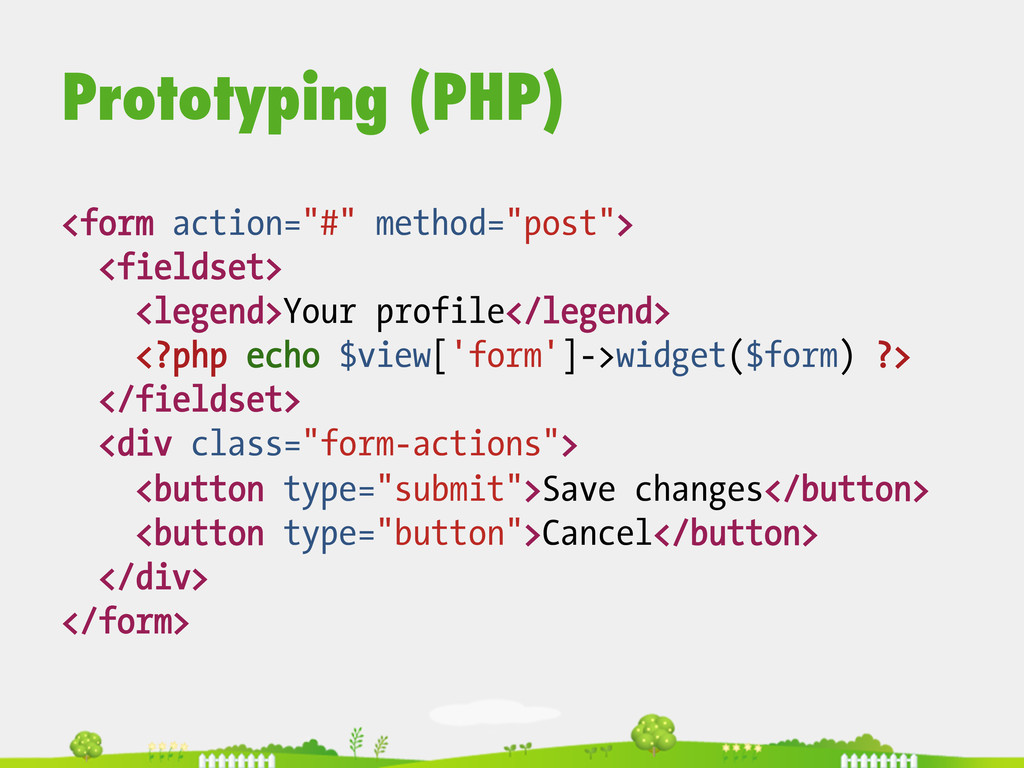 """Prototyping (PHP) <form action=""""#"""" method=""""post..."""