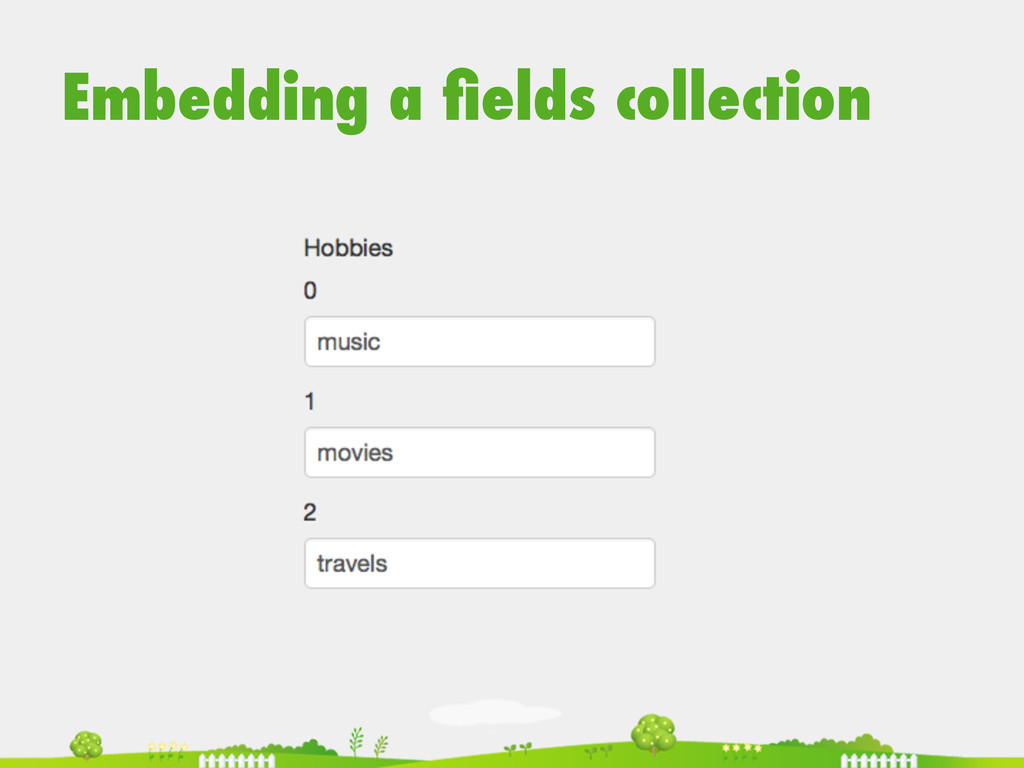 Embedding a fields collection