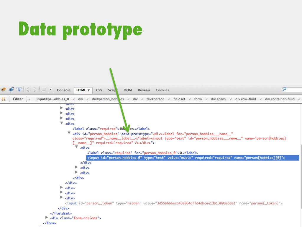 Data prototype