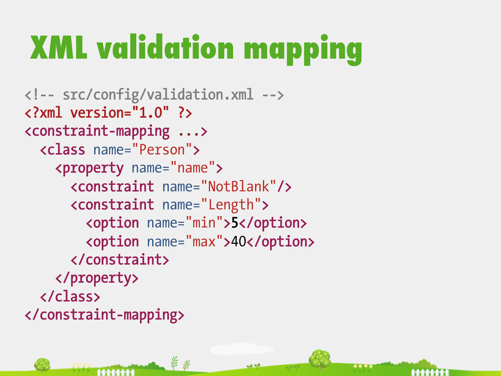 <!-- src/config/validation.xml --> <?xml versio...