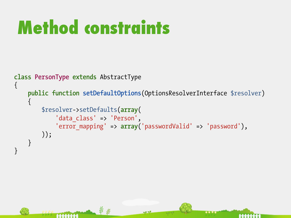 class PersonType extends AbstractType { public ...