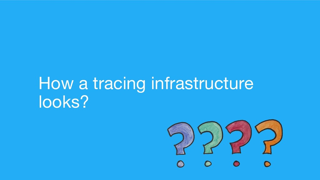 How a tracing infrastructure looks?