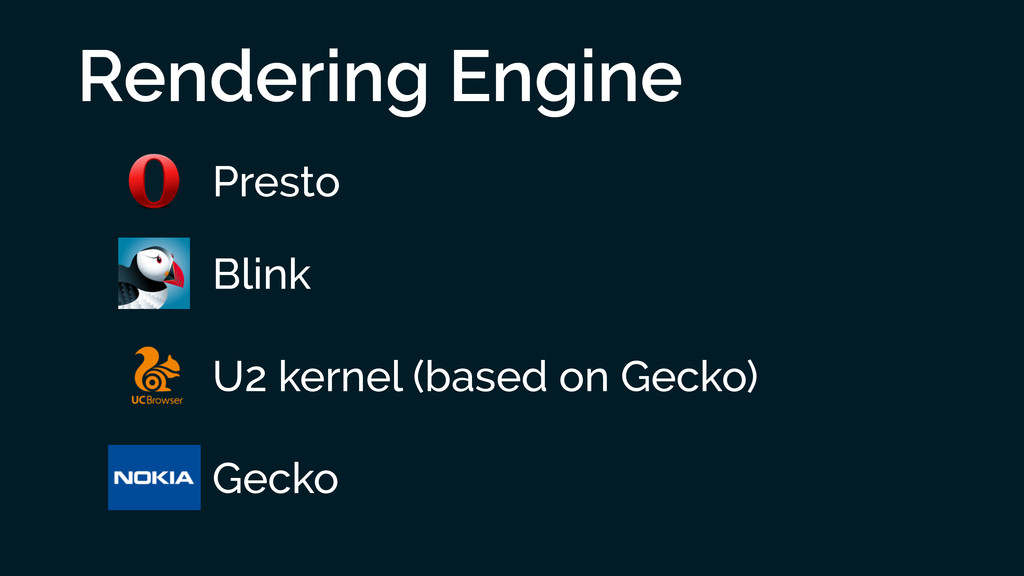 Rendering Engine Presto Blink U2 kernel (based ...
