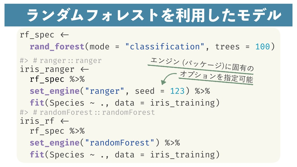 "rf_spec <- rand_forest(mode = ""classification"",..."