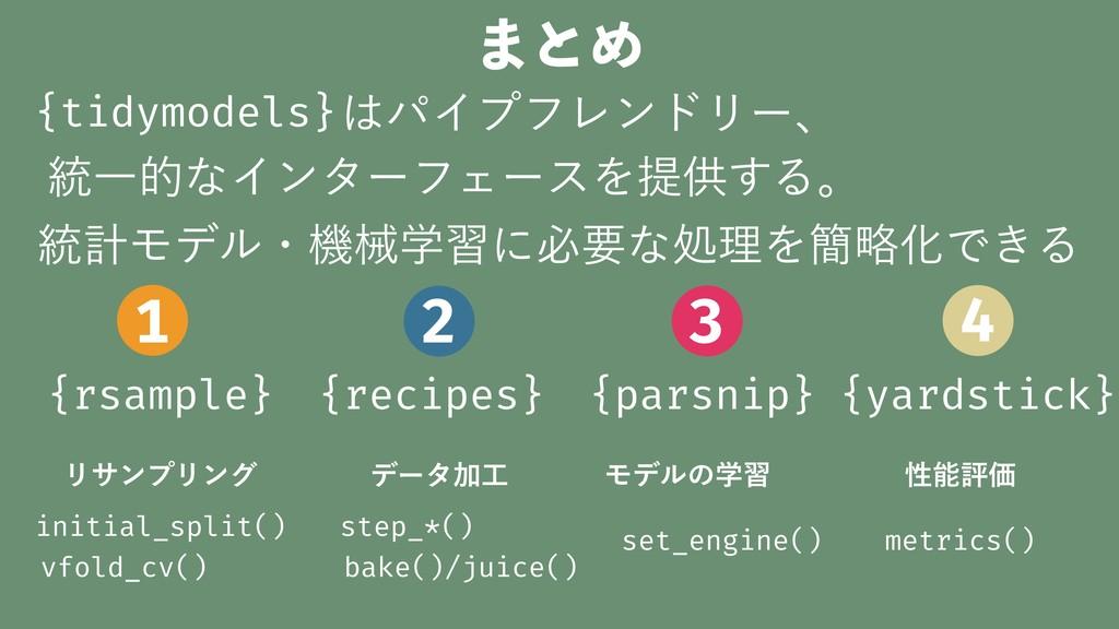 ·ͱΊ {parsnip} {recipes} {rsample} {yardstick} Ϟ...