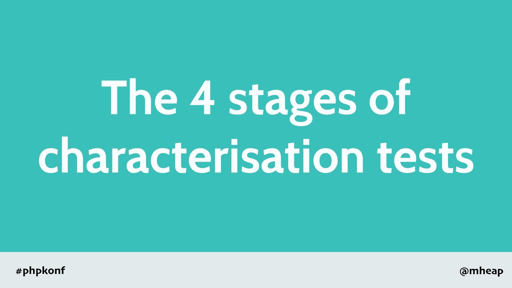 @mheap #phpkonf The 4 stages of characterisatio...