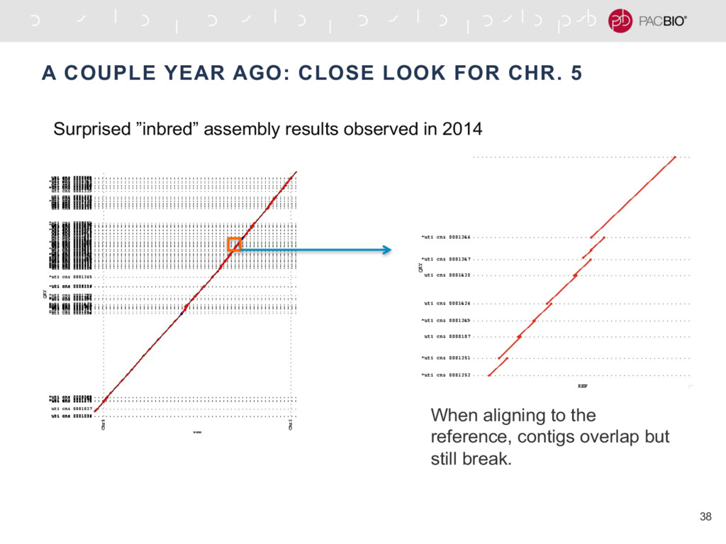 A COUPLE YEAR AGO: CLOSE LOOK FOR CHR. 5 38 Whe...