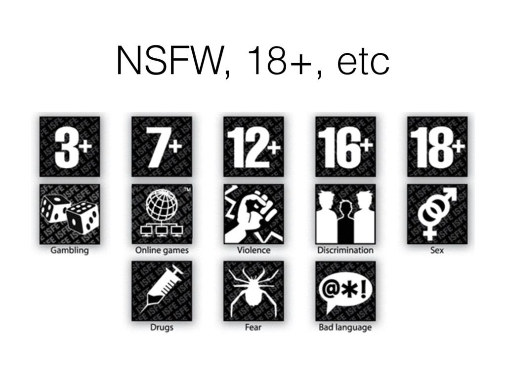 NSFW, 18+, etc