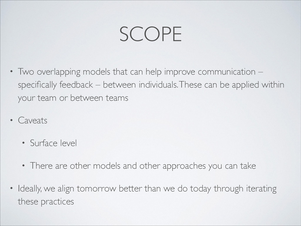 SCOPE • Two overlapping models that can help im...