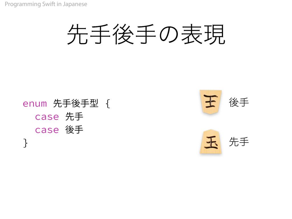 Programming Swift in Japanese ઌखޙखͷදݱ FOVN୩ᙨᒁᙨ...