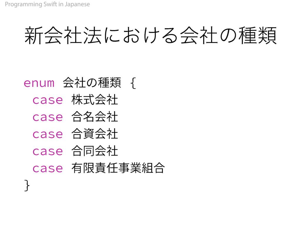 Programming Swift in Japanese ৽ձࣾ๏ʹ͓͚Δձࣾͷछྨ FOV...