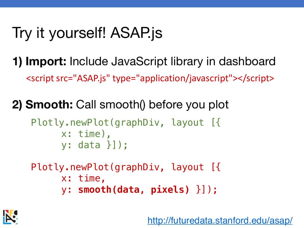 Try it yourself! ASAP.js Plotly.newPlot(graphDi...