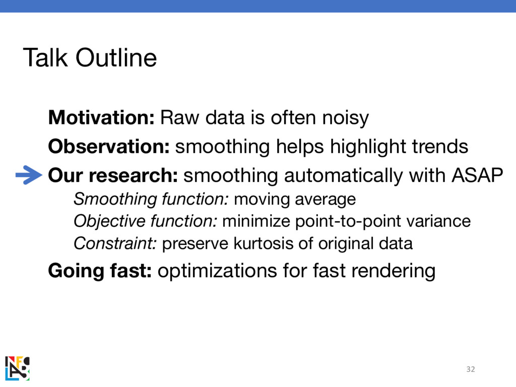 Talk Outline Motivation: Raw data is often nois...