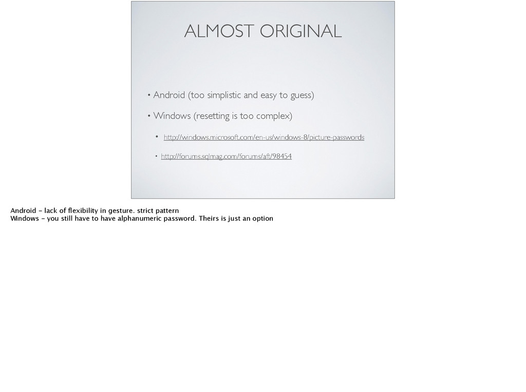 ALMOST ORIGINAL • Android (too simplistic and e...