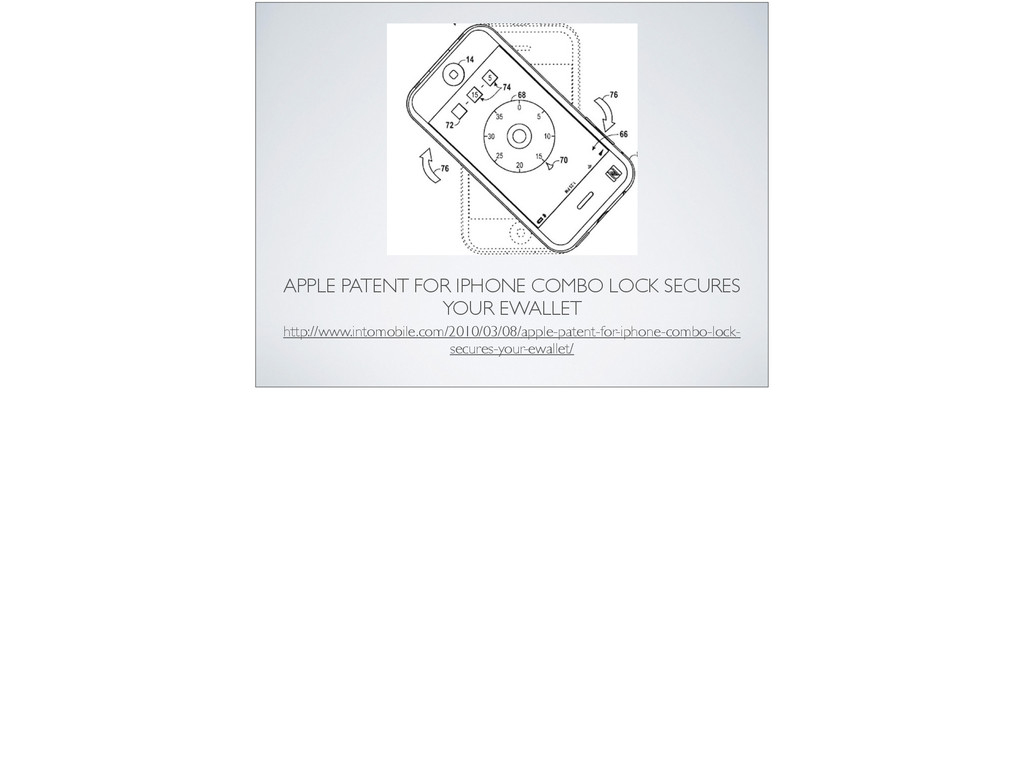 APPLE PATENT FOR IPHONE COMBO LOCK SECURES YOUR...