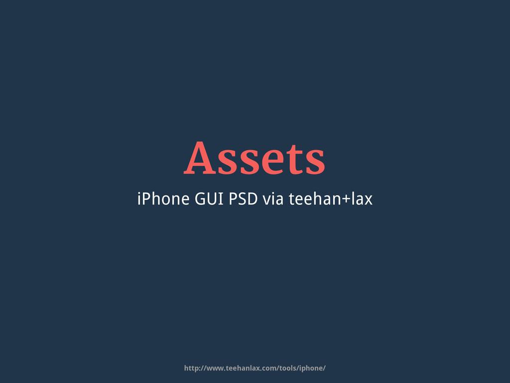 Assets iPhone GUI PSD via teehan+lax http://www...