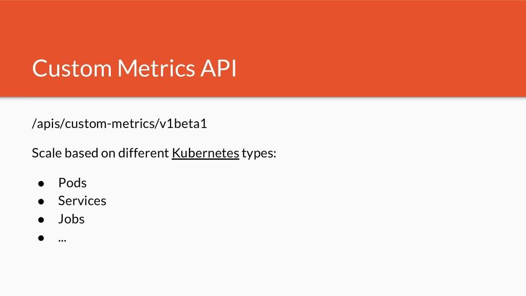 /apis/custom-metrics/v1beta1 Scale based on dif...