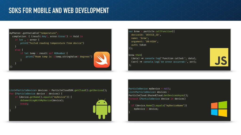 SDKS FOR MOBILE AND WEB DEVELOPMENT myPhoton!.g...