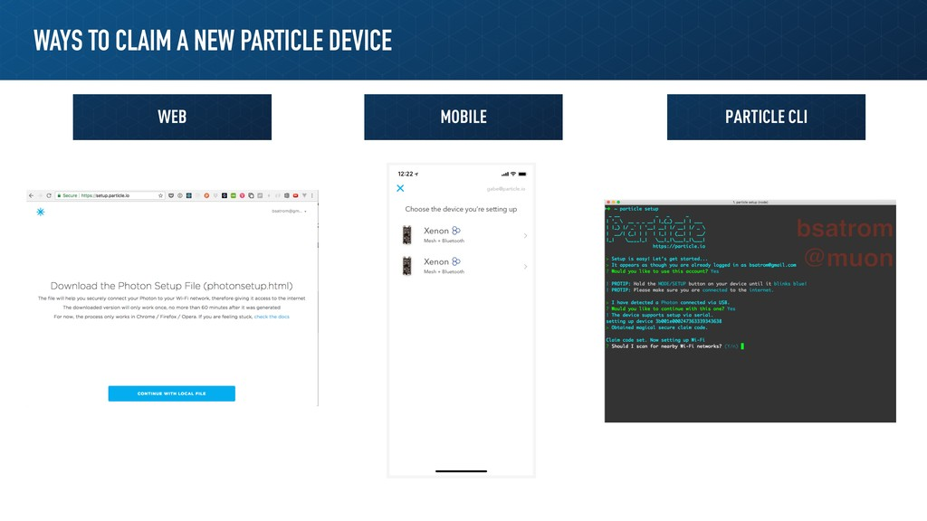 WAYS TO CLAIM A NEW PARTICLE DEVICE Web Mobile ...