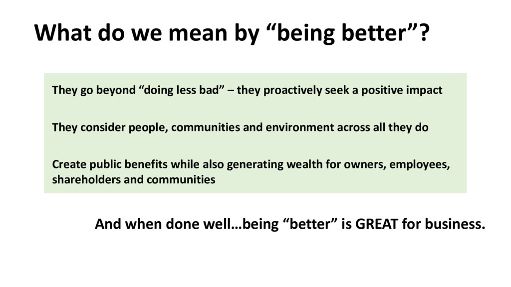 "What do we mean by ""being better""? And when don..."