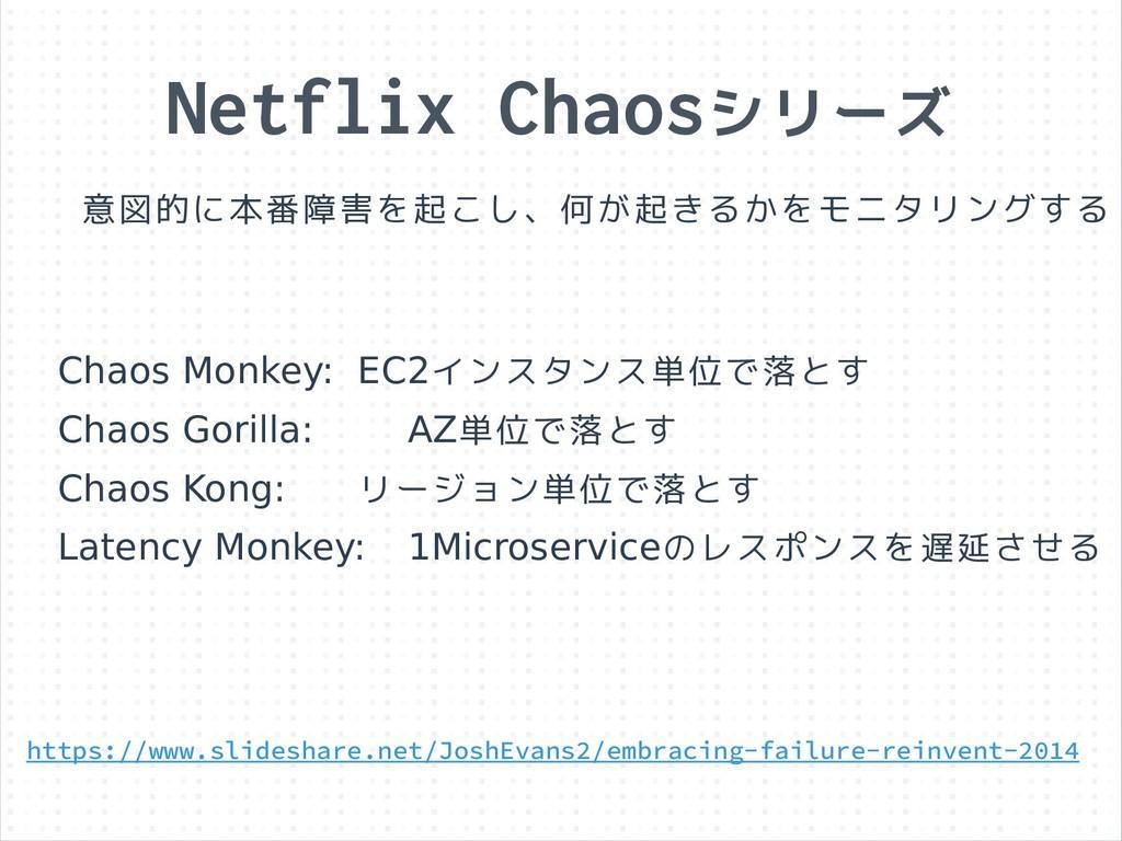 Netflix Chaosシリーズ 意図的に本番障害を起こし、何が起きるかをモニタリングする ...