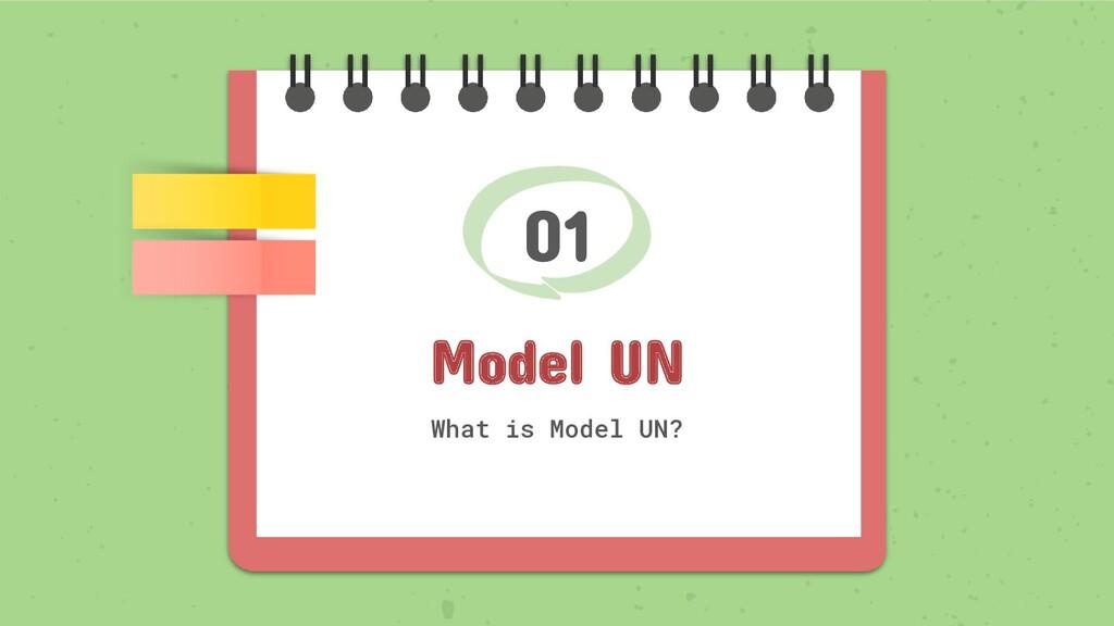 01 Model UN What is Model UN?